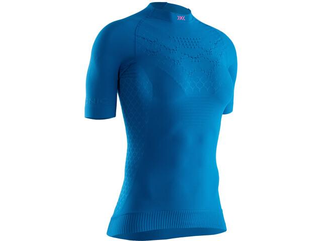 X-Bionic Twyce G2 Run Shirt SS Damen teal blue/neon flamingo